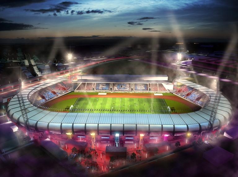 Городской стадион в Остраве-Витковице